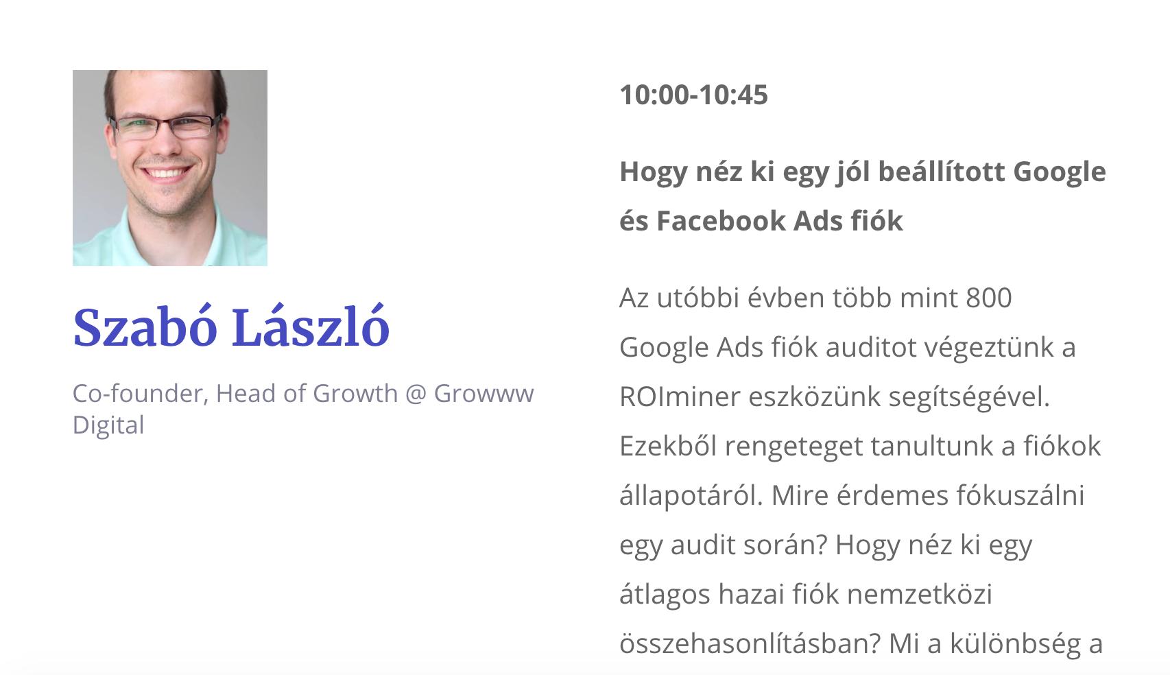 Szabó László- Growww Digital - Digital Cube Conf interjú