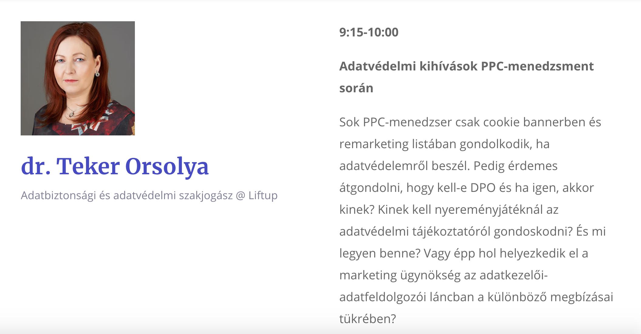 dr Teker Orsolya - Lilftup