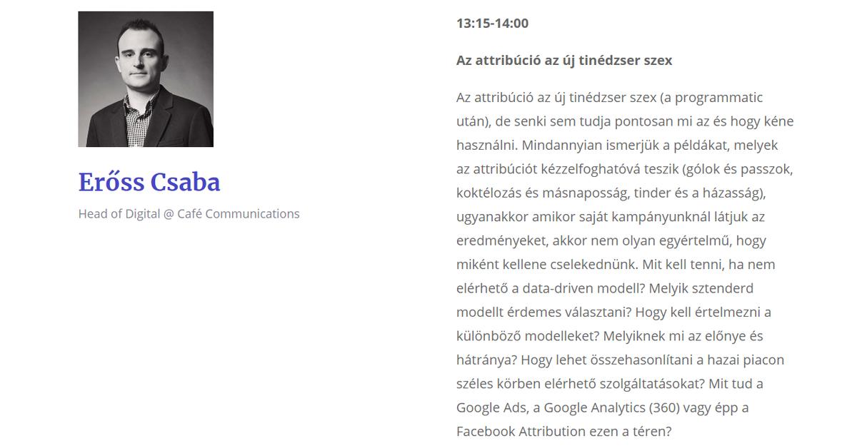Erőss Csaba - Café Communications