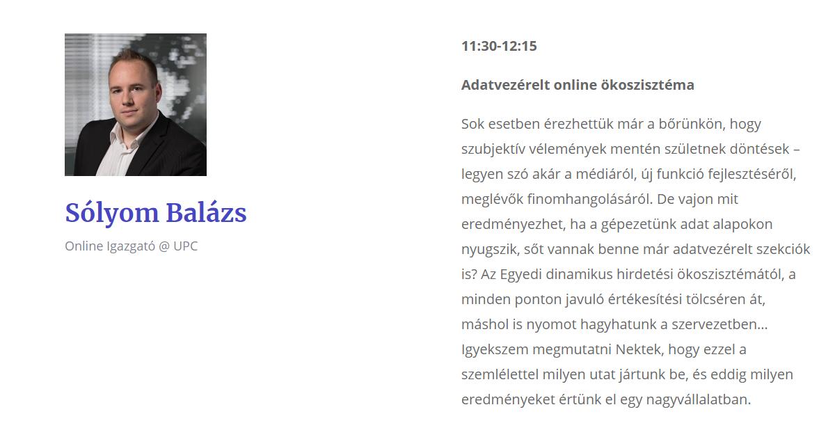 Sólyom Balázs - UPC Magyarország - Digital Cube Conf interjú