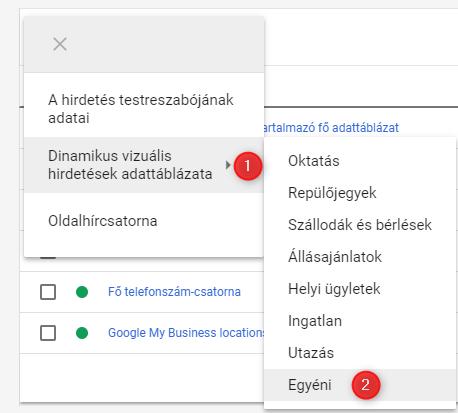 Google ads adattáblázat1