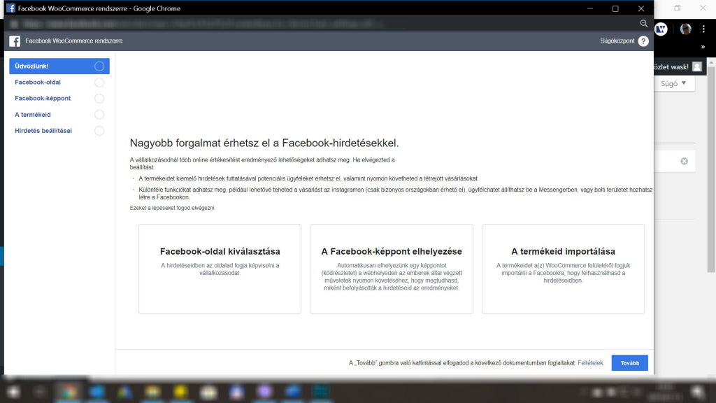 WordPress Facebook plugin - második lépés
